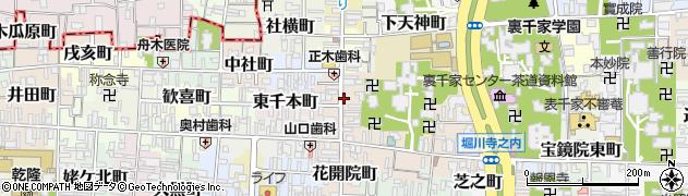 京都府京都市上京区前之町周辺の地図