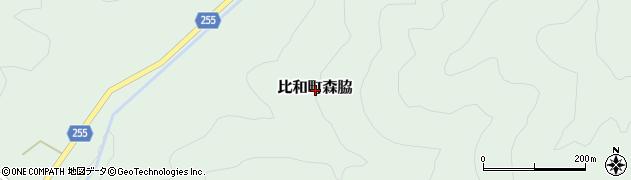 広島県庄原市比和町森脇周辺の地図
