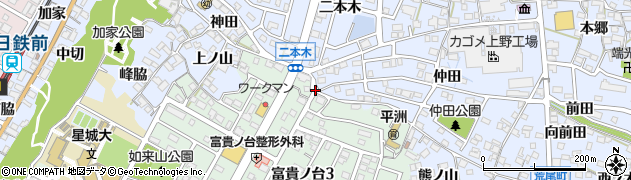 愛知県東海市荒尾町(本田池)周辺の地図