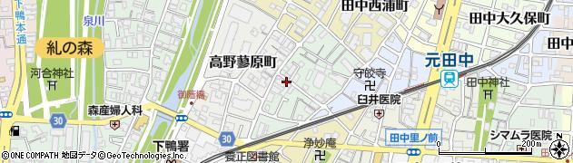 京都府京都市左京区田中南西浦町周辺の地図