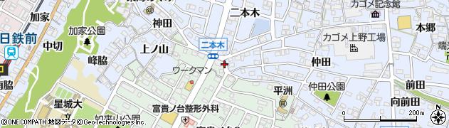 愛知県東海市荒尾町(土坪)周辺の地図