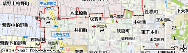 京都府京都市上京区戌亥町周辺の地図