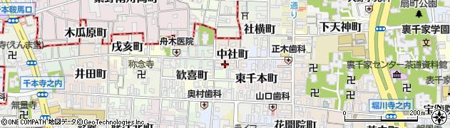 京都府京都市上京区中社町周辺の地図