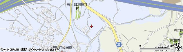 三重県四日市市伊坂町周辺の地図