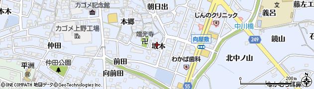 愛知県東海市荒尾町(坂本)周辺の地図