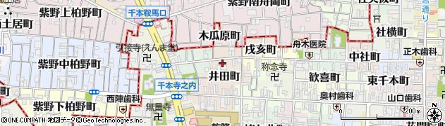京都府京都市上京区西芦山寺町周辺の地図
