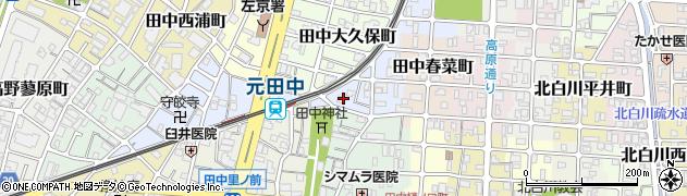 京都府京都市左京区田中西春菜町周辺の地図