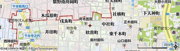 京都府京都市上京区西社町周辺の地図