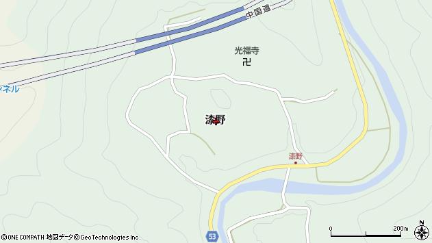 〒679-5221 兵庫県佐用郡佐用町漆野の地図