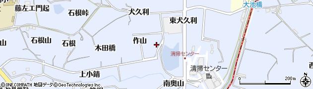 愛知県東海市荒尾町(奥山下)周辺の地図