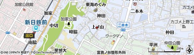 愛知県東海市荒尾町(上ノ山)周辺の地図