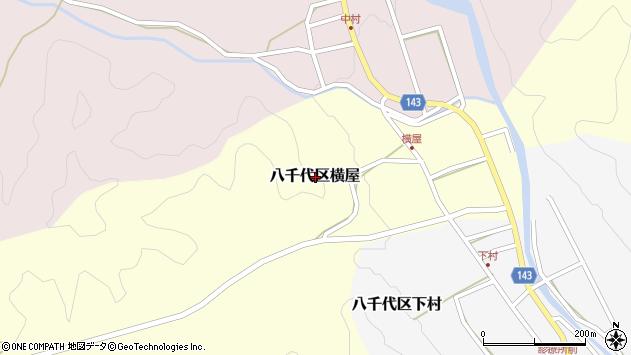 〒677-0104 兵庫県多可郡多可町八千代区横屋の地図