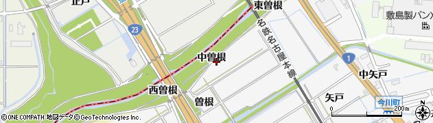 愛知県刈谷市今川町(中曽根)周辺の地図