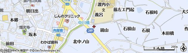 愛知県東海市荒尾町(鏡山)周辺の地図