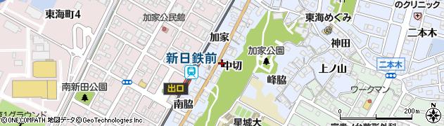 愛知県東海市荒尾町(中切)周辺の地図