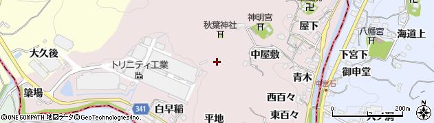 愛知県豊田市桂野町周辺の地図