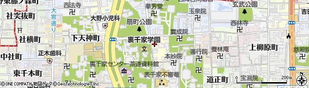 京都府京都市上京区禅昌院町周辺の地図