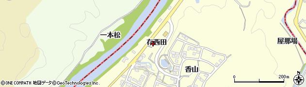 愛知県岡崎市桑原町(存西田)周辺の地図