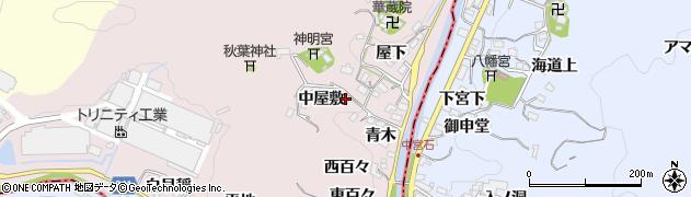 愛知県豊田市桂野町(中屋敷)周辺の地図