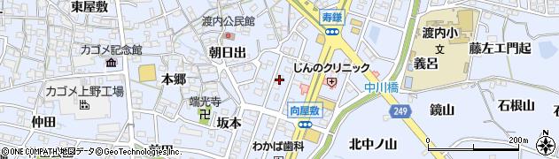 愛知県東海市荒尾町(向屋敷)周辺の地図