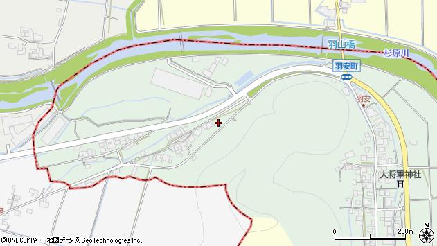 〒677-0006 兵庫県西脇市羽安町の地図