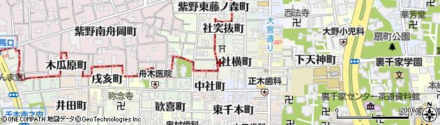 京都府京都市上京区薬師前町周辺の地図