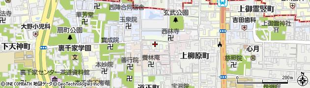 京都府京都市上京区継孝院町周辺の地図