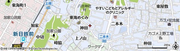 愛知県東海市荒尾町(御幣土)周辺の地図