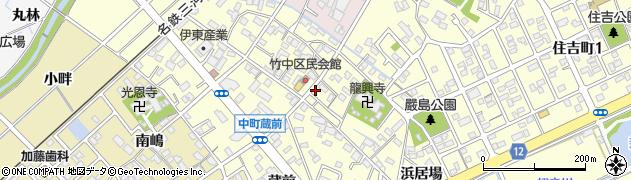愛知県豊田市中町(中郷)周辺の地図