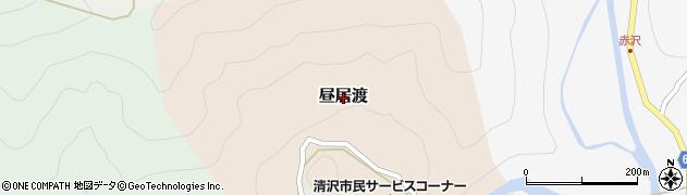 静岡県静岡市葵区昼居渡周辺の地図