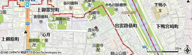 京都府京都市上京区高徳寺町周辺の地図