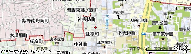 京都府京都市上京区竪社南半町周辺の地図