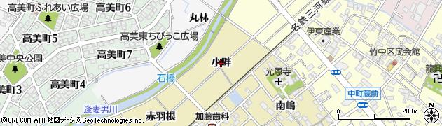 愛知県豊田市竹元町(小畔)周辺の地図