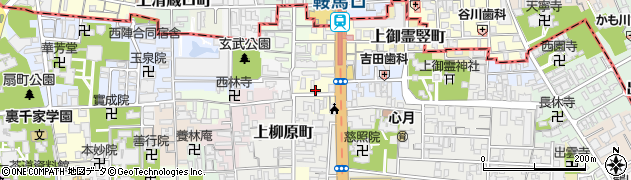 京都府京都市上京区内構町周辺の地図
