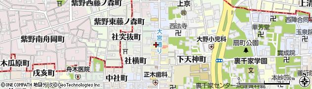京都府京都市上京区北仲之町周辺の地図