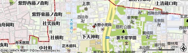 京都府京都市上京区上天神町周辺の地図
