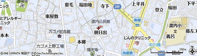 愛知県東海市荒尾町(朝日出)周辺の地図