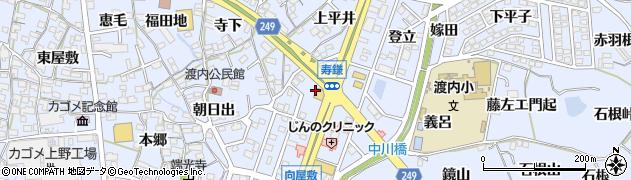 愛知県東海市荒尾町(下平井)周辺の地図