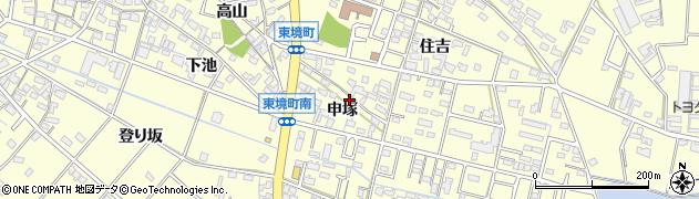 愛知県刈谷市東境町(申塚)周辺の地図