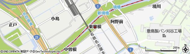 愛知県刈谷市今川町(東曽根)周辺の地図