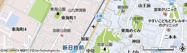 愛知県東海市荒尾町(チノ割)周辺の地図