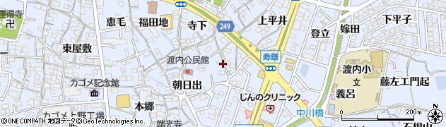 愛知県東海市荒尾町(出口)周辺の地図