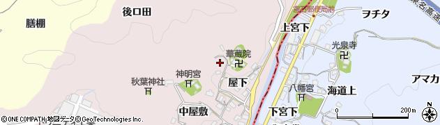 愛知県豊田市桂野町(北洞)周辺の地図