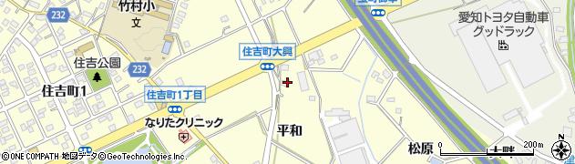 愛知県豊田市住吉町(平和)周辺の地図
