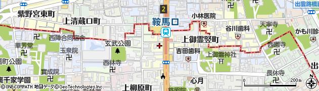 京都府京都市上京区上御霊中町周辺の地図