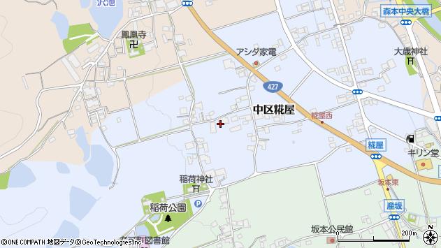 〒679-1133 兵庫県多可郡多可町中区糀屋の地図