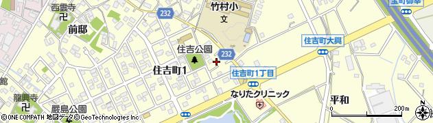 愛知県豊田市住吉町(上中根)周辺の地図