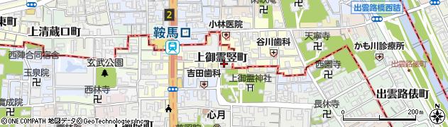 京都府京都市上京区上御霊竪町周辺の地図
