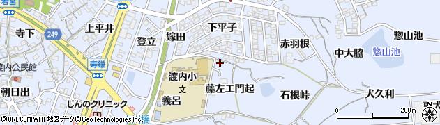 愛知県東海市荒尾町(藤左エ門起)周辺の地図