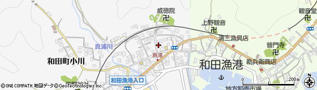 千葉県南房総市和田町真浦周辺の地図